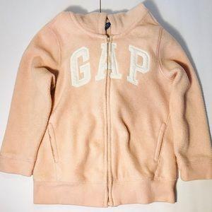 Peach Gap Fleece Hooded Sweater with Zipper